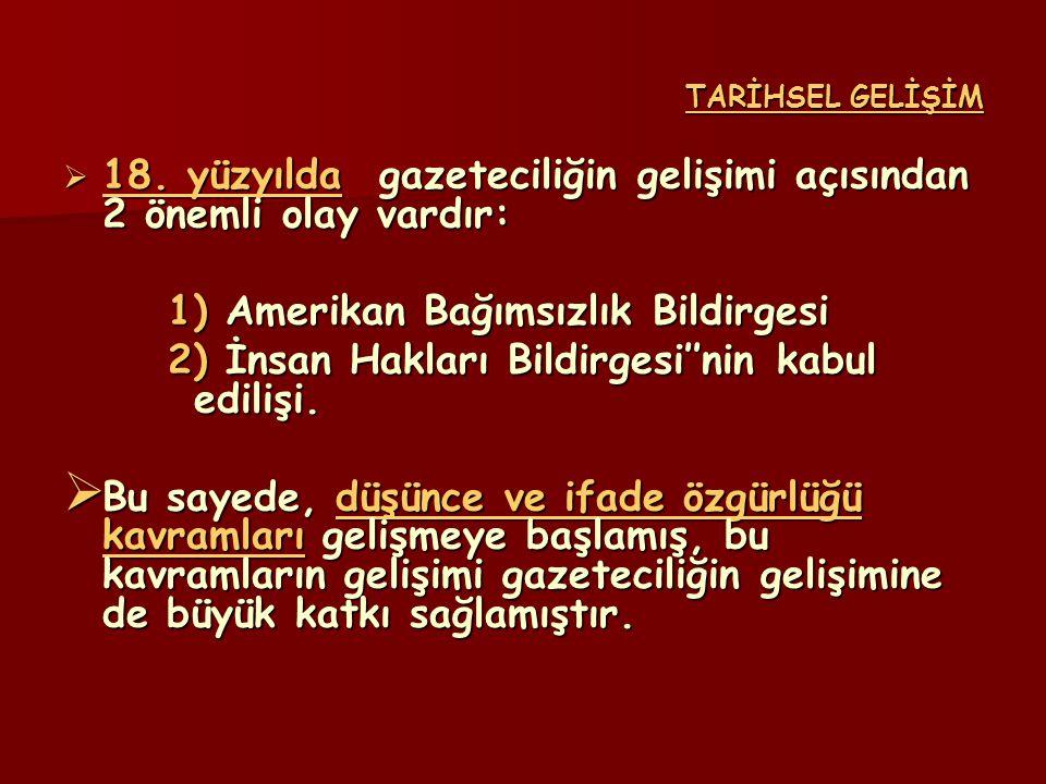 TARİHSEL GELİŞİM  19.