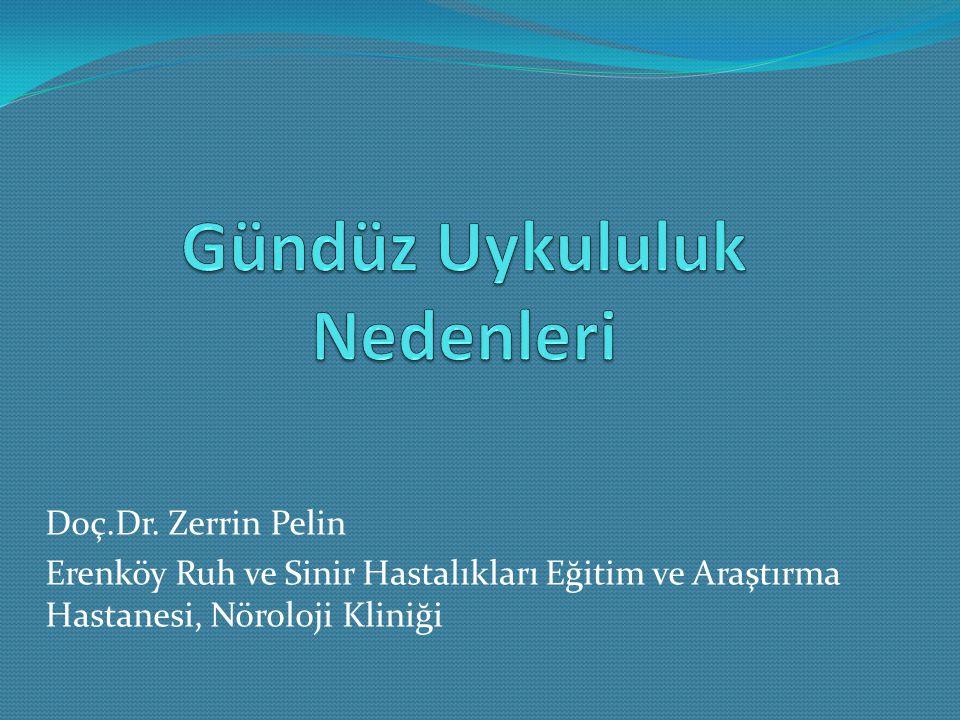 Doç.Dr. Zerrin Pelin Erenköy Ruh ve Sinir Hastalıkları Eğitim ve Araştırma Hastanesi, Nöroloji Kliniği