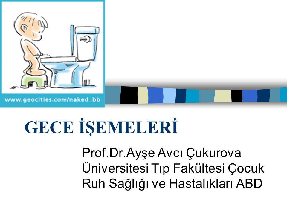 GECE İŞEMELERİ Prof.Dr.Ayşe Avcı Çukurova Üniversitesi Tıp Fakültesi Çocuk Ruh Sağlığı ve Hastalıkları ABD