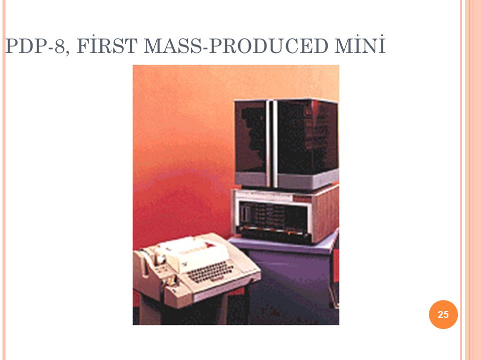 PDP-8, FİRST MASS-PRODUCED MİNİ 25