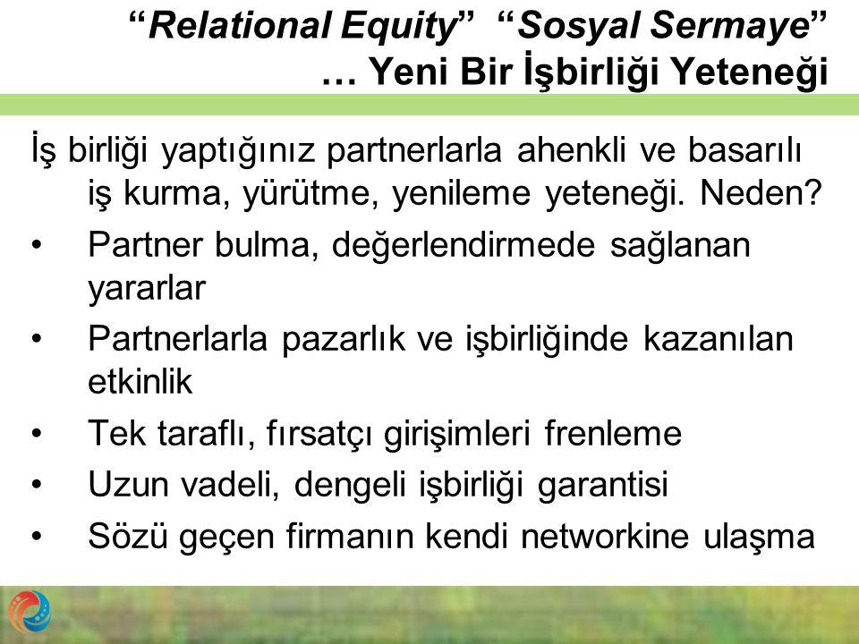 """""""Relational Equity"""" """"Sosyal Sermaye"""" … Yeni Bir İşbirliği Yeteneği İş birliği yaptığınız partnerlarla ahenkli ve basarılı iş kurma, yürütme, yenileme"""