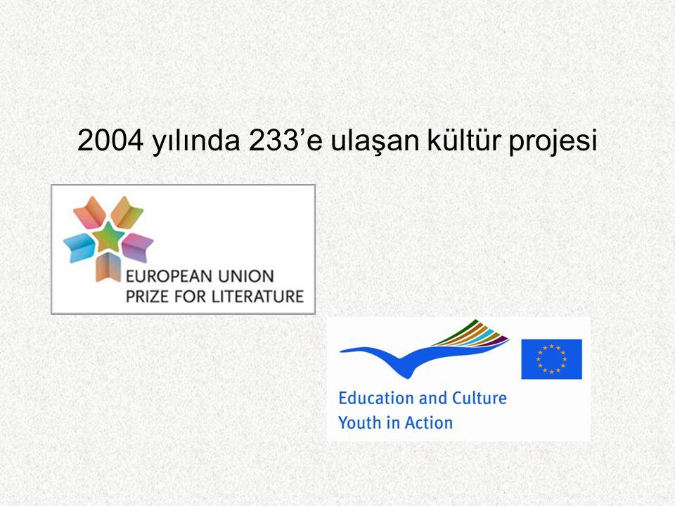 2004 yılında 233'e ulaşan kültür projesi