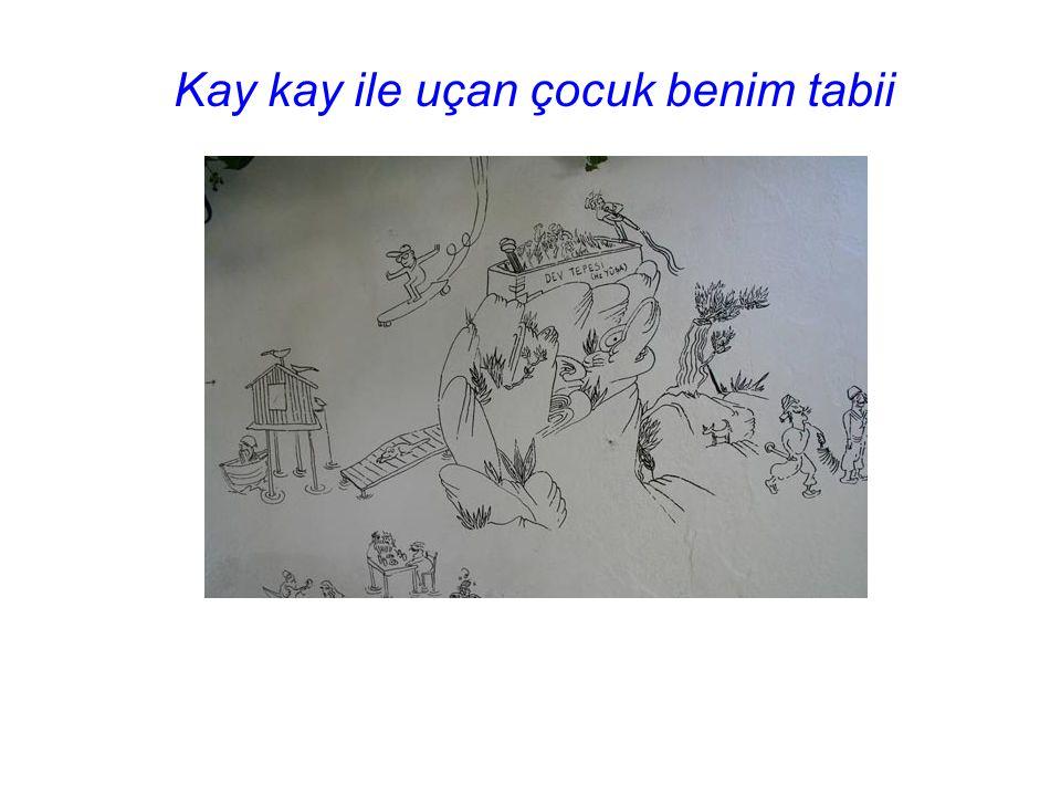 Ütopya isimli duvar resminin sahibi Ceren OYKUT
