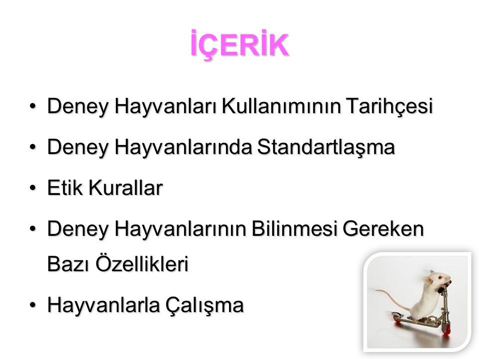 DENEY HAYVANI NEDİR.