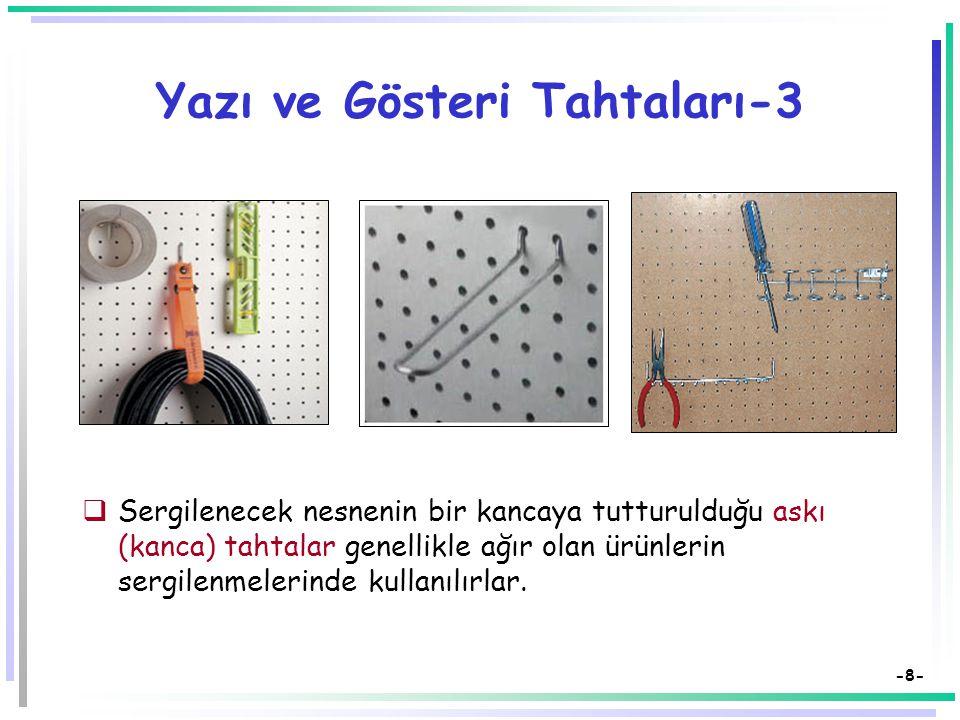 -7- Yazı ve Gösteri Tahtaları-2 Elektronik tahtalar: Tahtaya yandan tutturulan bir aygıt normal beyaz tahtayı elektronik bir tahtaya dönüştürebilmekte