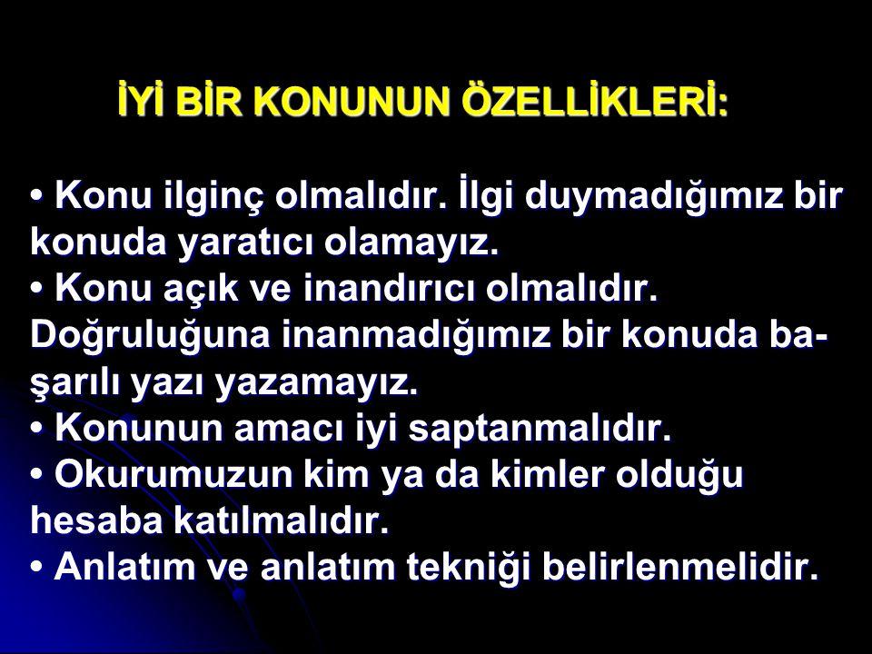 ÖRNEKLER: Atatürk'ün,