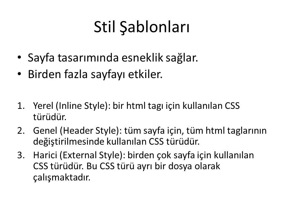 Yerel CSS CSS Dersleri – Metin Yılmaz Inline Style Kullanımı
