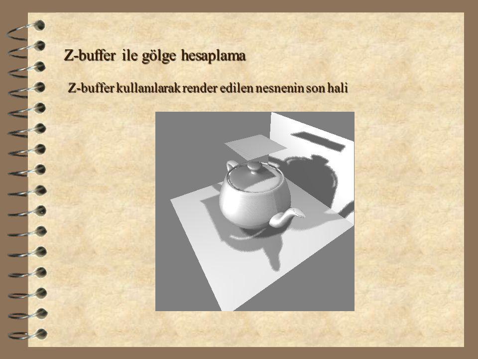Z-buffer ile gölge hesaplama Z-buffer kullanılarak render edilen nesnenin son hali