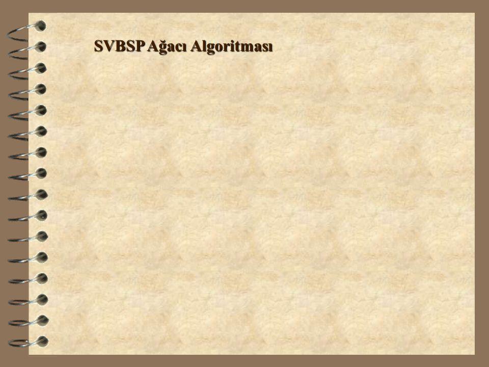 SVBSP Ağacı Algoritması
