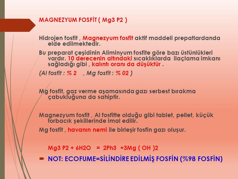 MAGNEZYUM FOSFİT ( Mg3 P2 ) Hidrojen fosfit, Magnezyum fosfit aktif maddeli prepatlardanda elde edilmektedir. Bu preparat çeşidinin Aliminyum fosfite