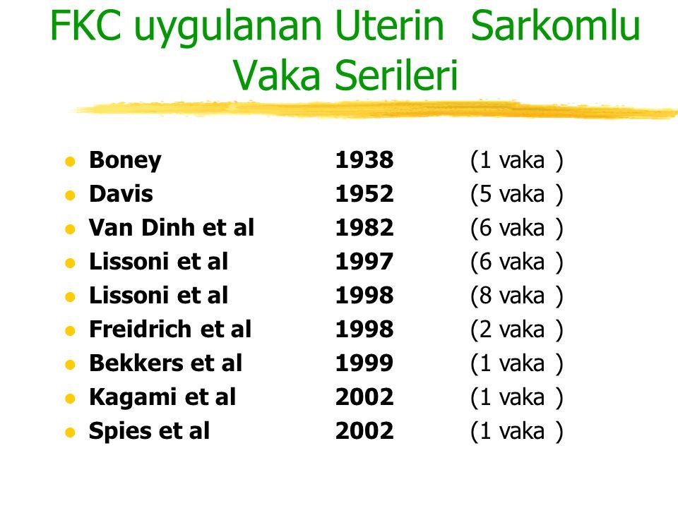 l Boney 1938 (1 vaka ) l Davis 1952 (5 vaka ) l Van Dinh et al1982 (6 vaka ) l Lissoni et al 1997 (6 vaka ) l Lissoni et al 1998 (8 vaka ) l Freidrich