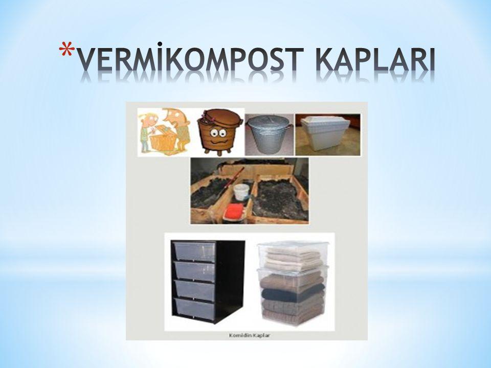 1. Tek Parçalı Kompost Kabı 2. Dik Olarak Yükselen Sistem 3. Yatay Olarak Kurulan Sistem