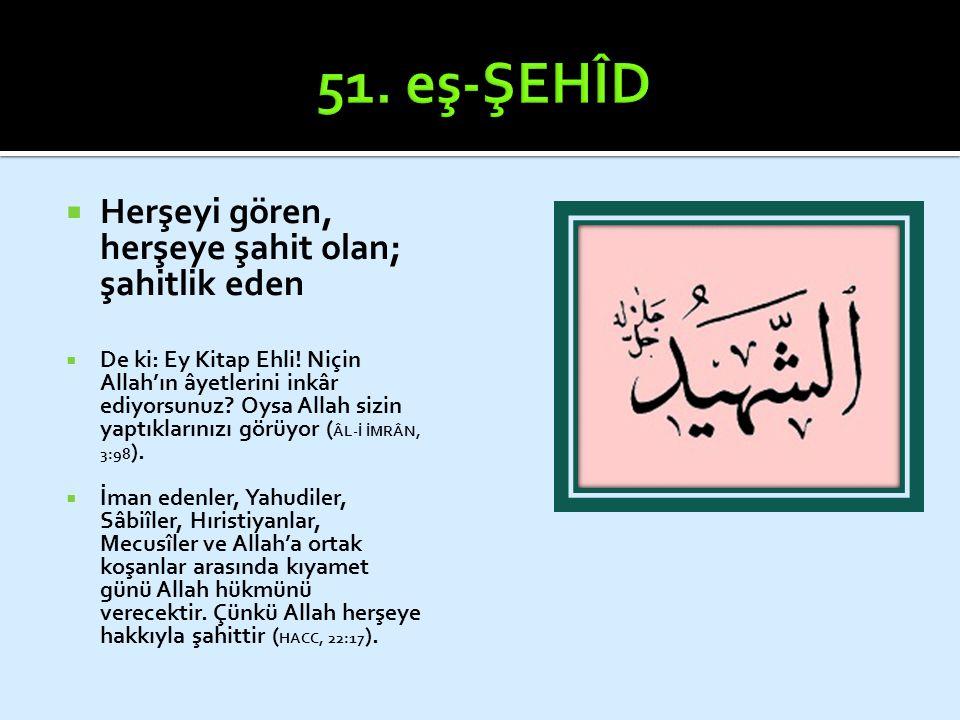  Çok bağışlayıcı  Gufran: günahı örtmek / Afv: iz bırakmadan silmek (Gazâlî)  Çoğunlukla Gafûr ismiyle beraber geçer  Kötülüğün karşılığı, ona denk bir kötülüktür.