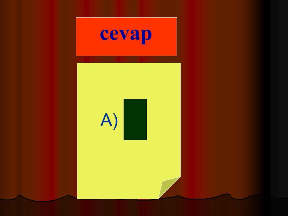 B) çeyrek cevap