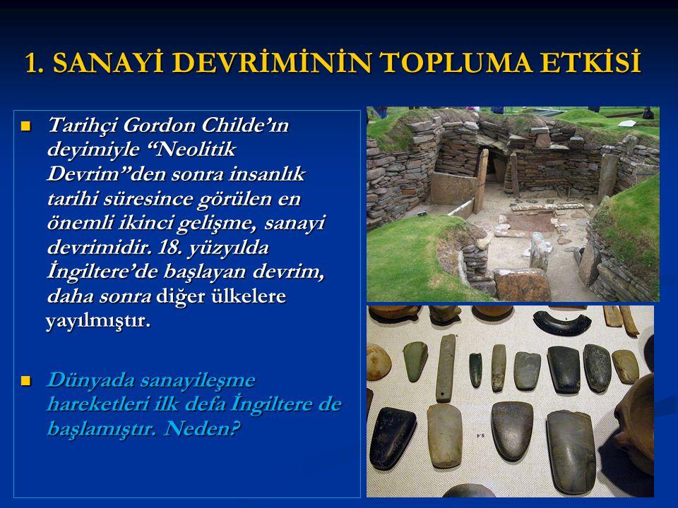 Tarihçi Gordon Childe'ın deyimiyle Neolitik Devrim den sonra insanlık tarihi süresince görülen en önemli ikinci gelişme, sanayi devrimidir.