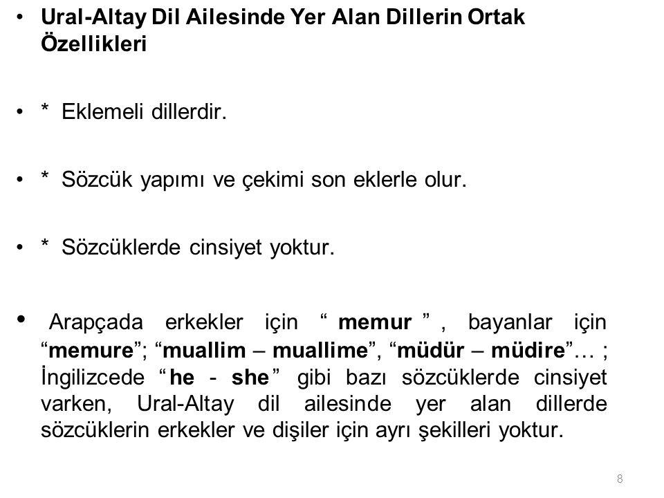 19 TÜRK YAZI DİLİNİN GELİŞMESİ Eski Türkçe: Türkçe nin ilk dönemidir.