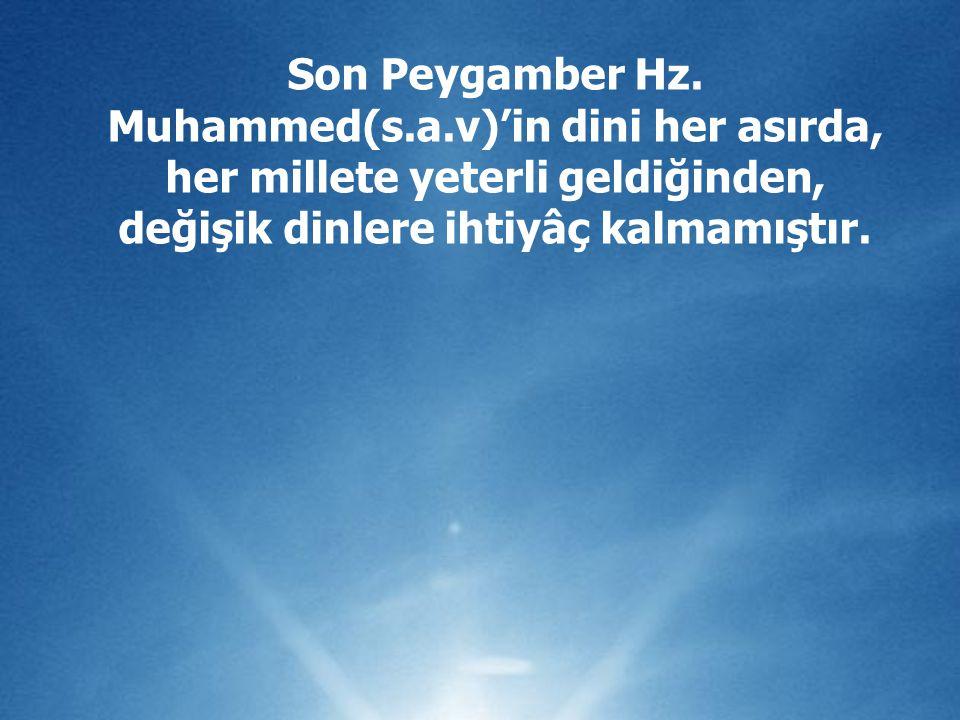 Son Peygamber Hz.