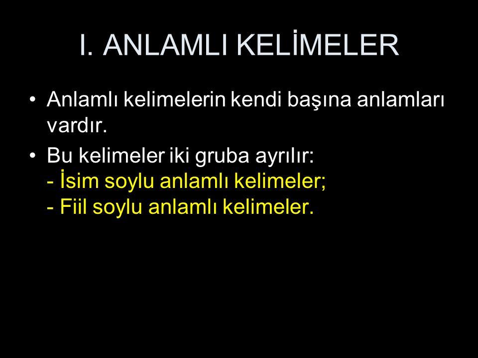 İSİMLERİN SINIFLANDIRILMASI 4.