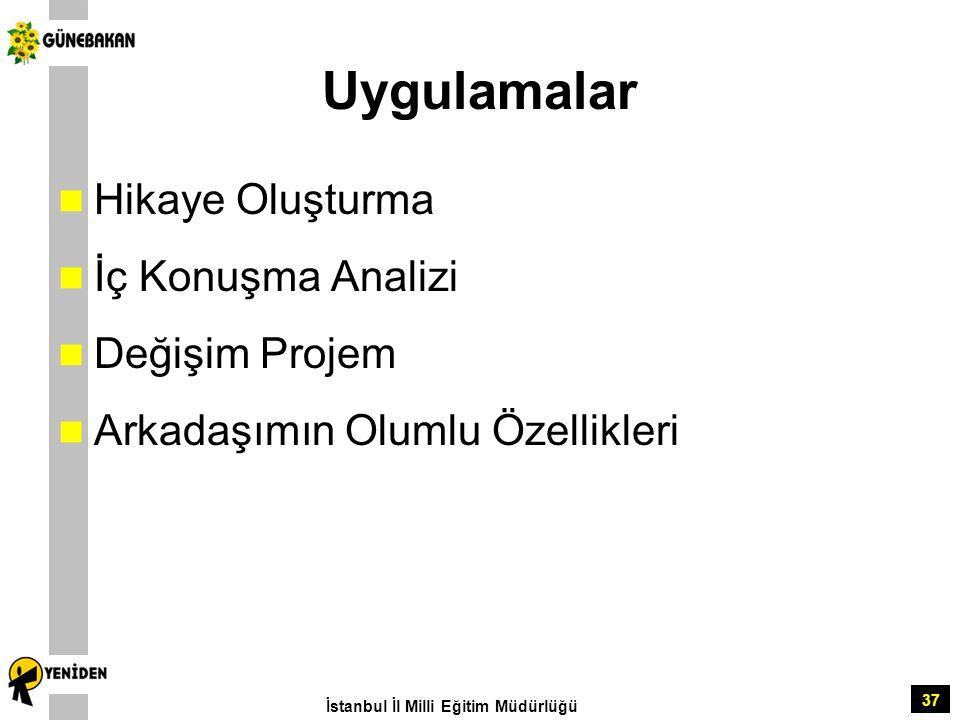 37 Uygulamalar Hikaye Oluşturma İç Konuşma Analizi Değişim Projem Arkadaşımın Olumlu Özellikleri İstanbul İl Milli Eğitim Müdürlüğü