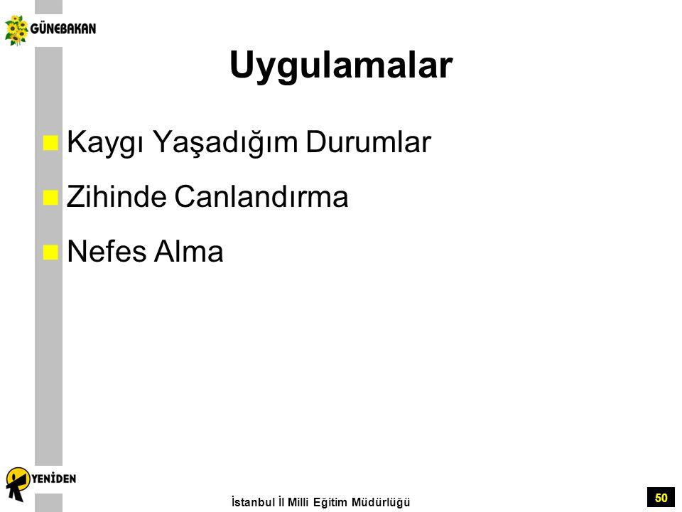 50 Uygulamalar Kaygı Yaşadığım Durumlar Zihinde Canlandırma Nefes Alma İstanbul İl Milli Eğitim Müdürlüğü