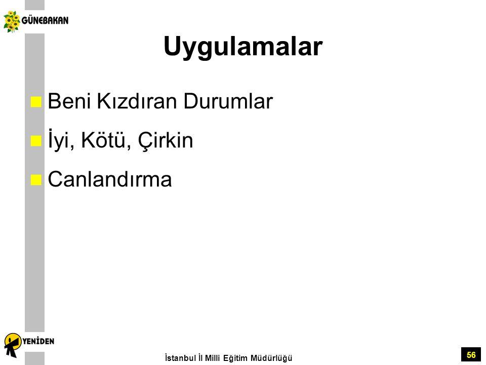 56 Uygulamalar Beni Kızdıran Durumlar İyi, Kötü, Çirkin Canlandırma İstanbul İl Milli Eğitim Müdürlüğü