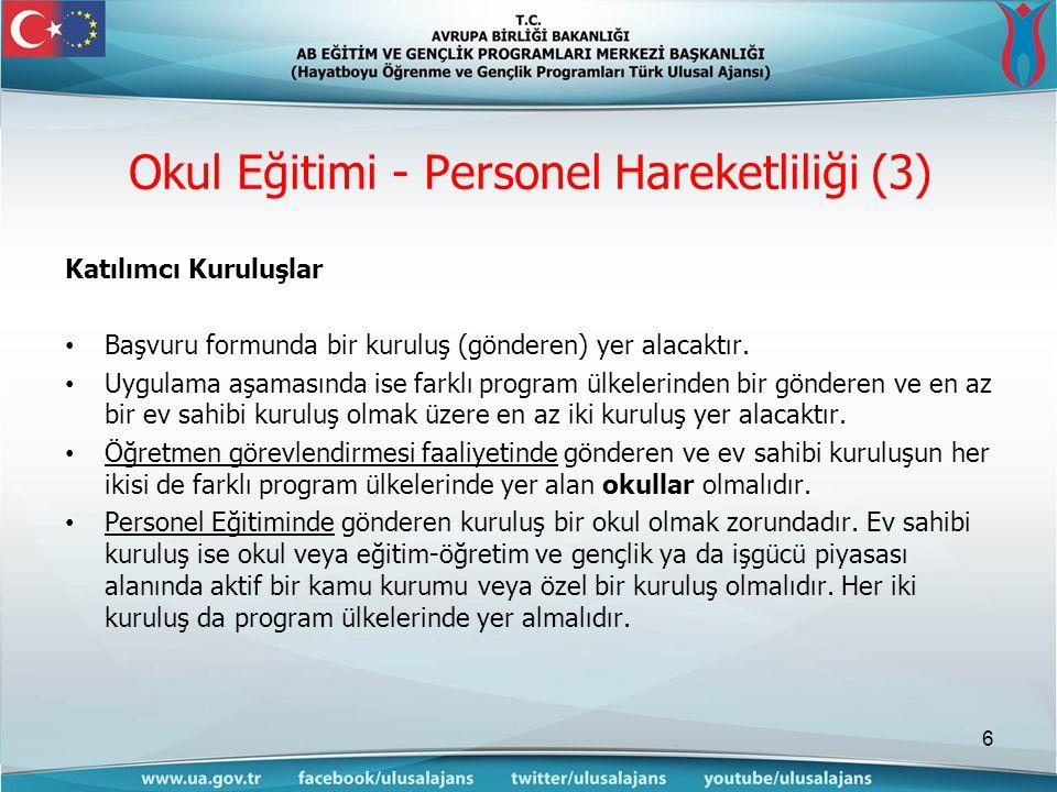 Katılımcı Kuruluşlar Başvuru formunda bir kuruluş (gönderen) yer alacaktır.