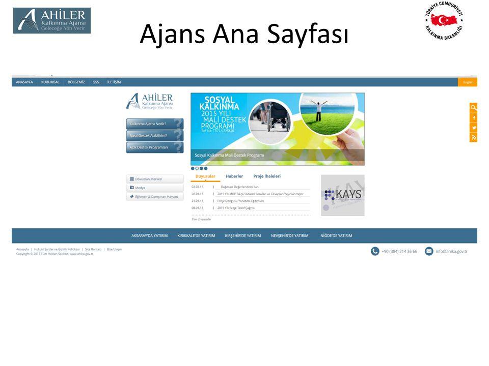 Ajans Ana Sayfası