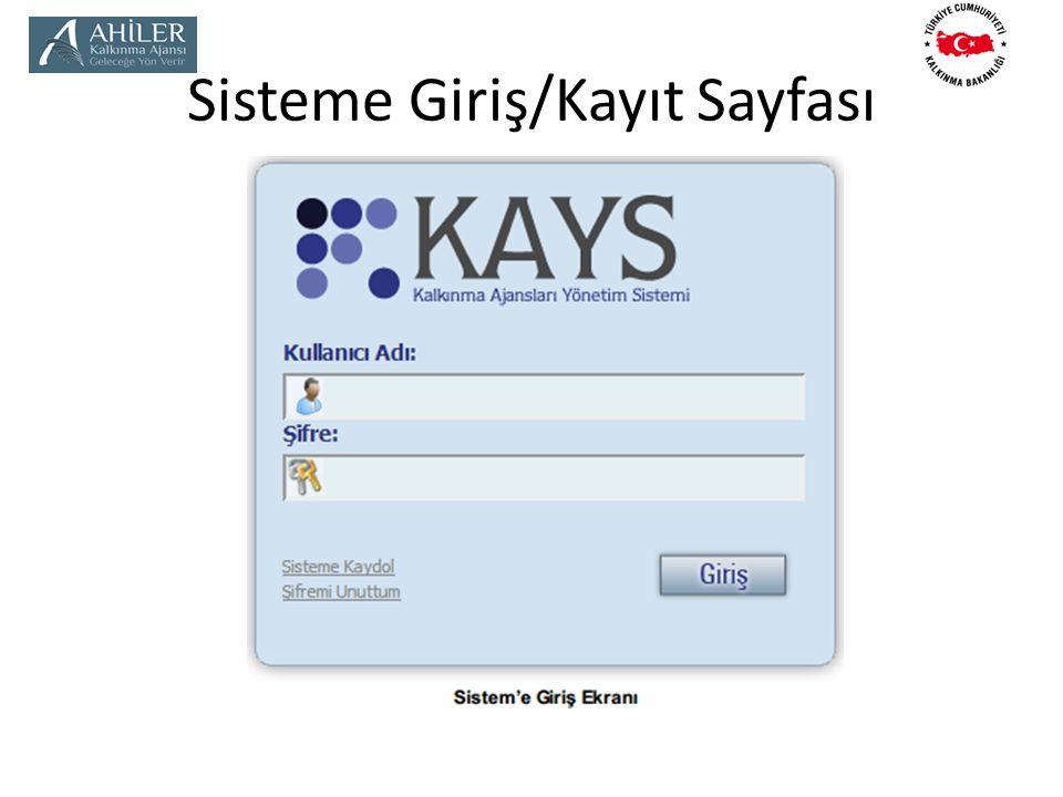 Sisteme Giriş/Kayıt Sayfası