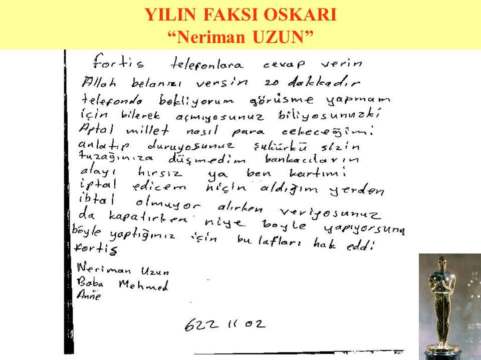 YILIN KARADENİZLİSİ OSKARI
