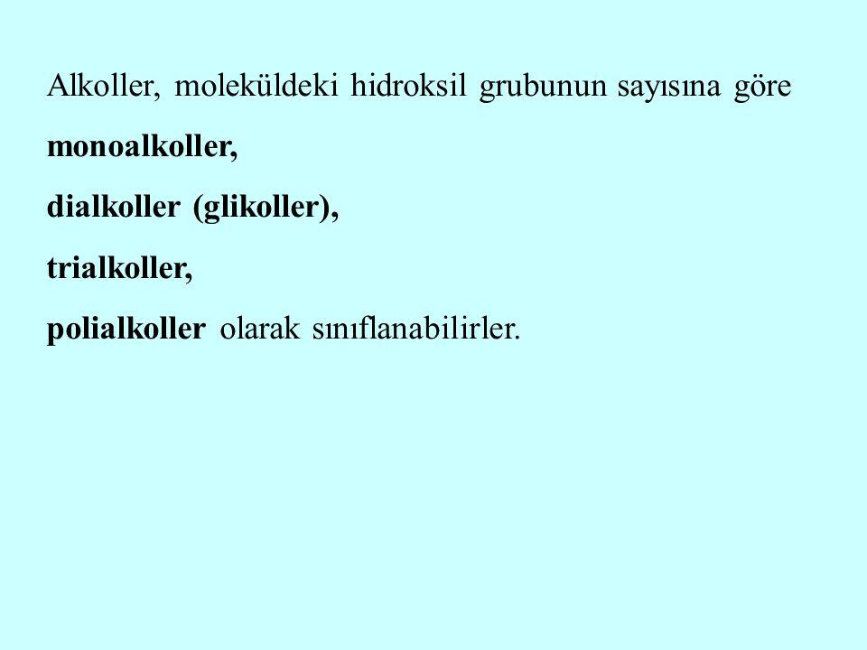 Dietil eter (C 2 H 5  O  C 2 H 5 ), kısaca eter olarak bilinir; pratikte etil alkol+sülfürik asit karışımları ısıtılarak elde edilir; bu nedenle bazen eter sülfürik diye de adlandırılır.