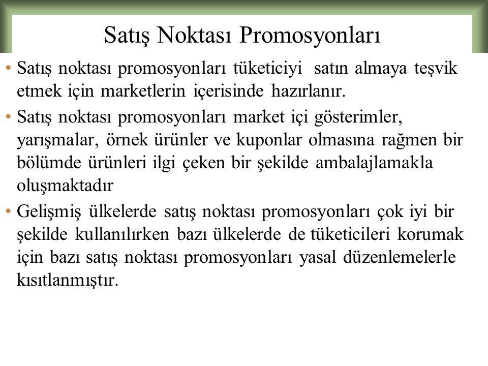 15 - 25 Satış Noktası Promosyonları Satış noktası promosyonları tüketiciyi satın almaya teşvik etmek için marketlerin içerisinde hazırlanır.