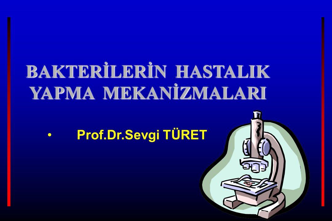 BAKTERİLERİN HASTALIK YAPMA MEKANİZMALARI Prof.Dr.Sevgi TÜRET