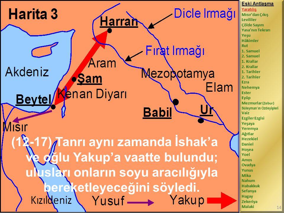 (12-17) Tanrı aynı zamanda İshak'a ve oğlu Yakup'a vaatte bulundu; ulusları onların soyu aracılığıyla bereketleyeceğini söyledi.