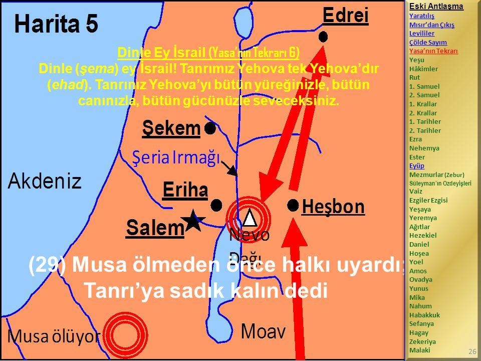 Dinle Ey İsrail (Yasa'nın Tekrarı 6) Dinle (şema) ey İsrail.