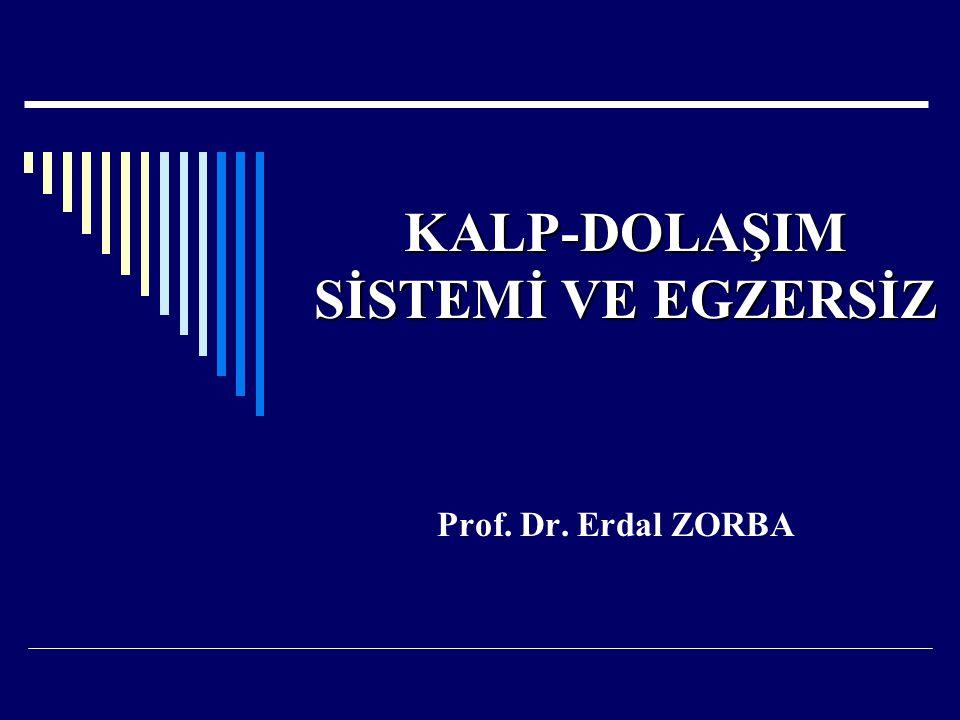 KALP-DOLAŞIM SİSTEMİ VE EGZERSİZ Prof. Dr. Erdal ZORBA