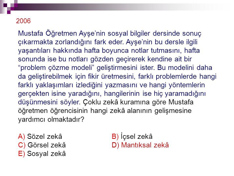 Mustafa Öğretmen Ayşe'nin sosyal bilgiler dersinde sonuç çıkarmakta zorlandığını fark eder. Ayşe'nin bu dersle ilgili yaşantıları hakkında hafta boyun