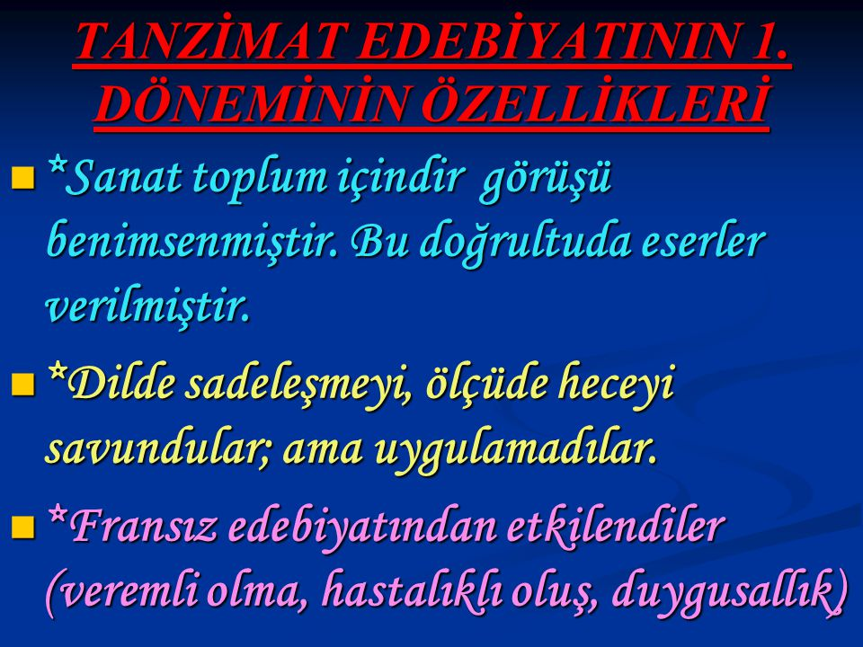MUALLİM NACİ (1850-1893) *Eski edebiyat taraftarlarının lideri durumundadır.