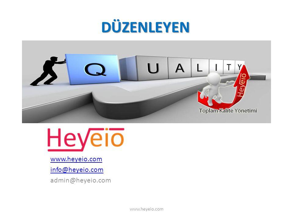 DÜZENLEYEN info@heyeio.com admin@heyeio.com www.heyeio.com