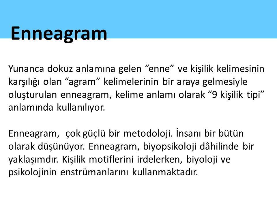 """Yunanca dokuz anlamına gelen """"enne"""" ve kişilik kelimesinin karşılığı olan """"agram"""" kelimelerinin bir araya gelmesiyle oluşturulan enneagram, kelime anl"""