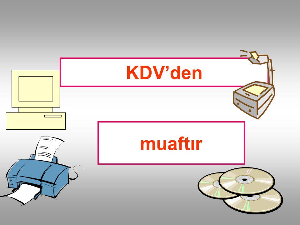 KDV'den muaftır