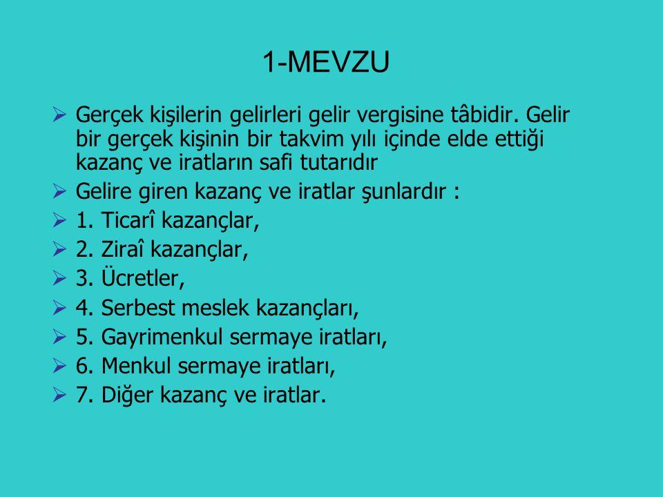 2-MÜKELLEF 1.Türkiye de yerleşmiş olan; 2.