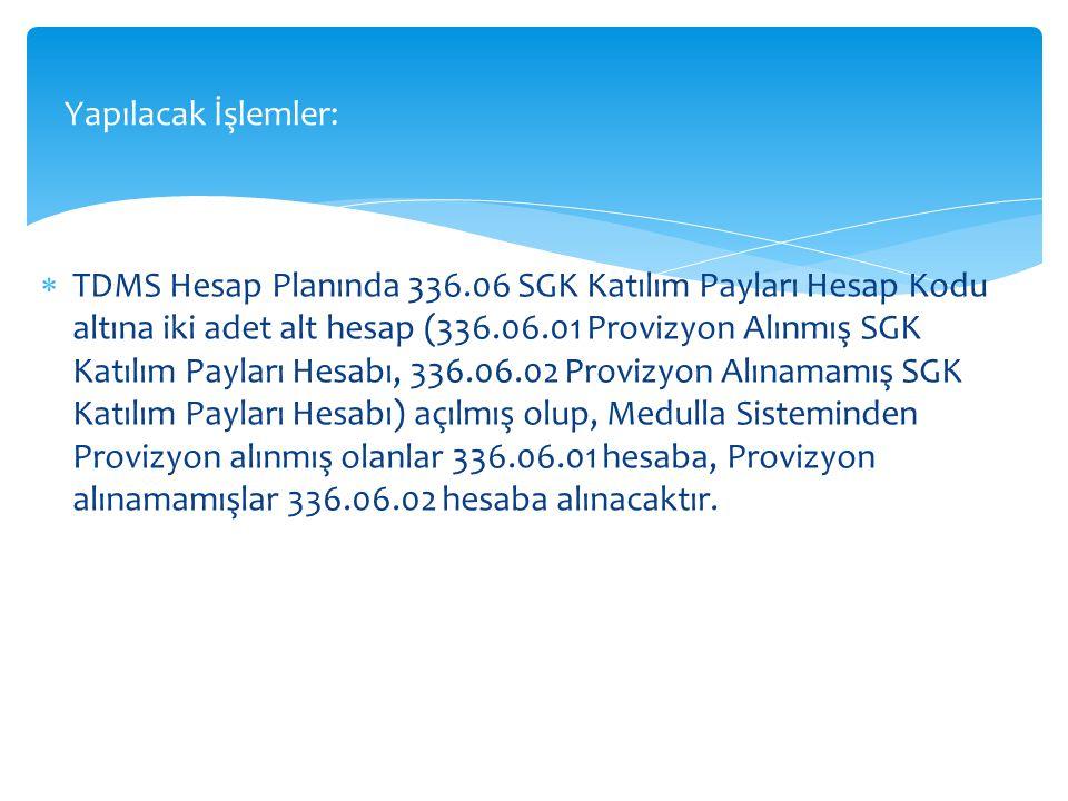  Sağlık Tesislerimiz Provizyon Alınmış SGK Katılım Paylarını tahsil ederken yapacağı muhasebe kaydı :  Örnek: 19/01/2015 tarihinde yapılan tahsilat için yapılacak olan kayıt.