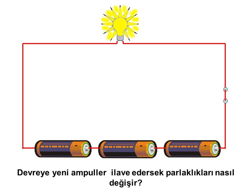 Devreye yeni ampuller ilave edersek parlaklıkları nasıl değişir?
