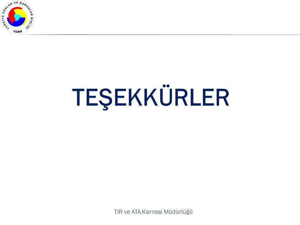 TEŞEKKÜRLER TIR ve ATA Karnesi Müdürlüğü
