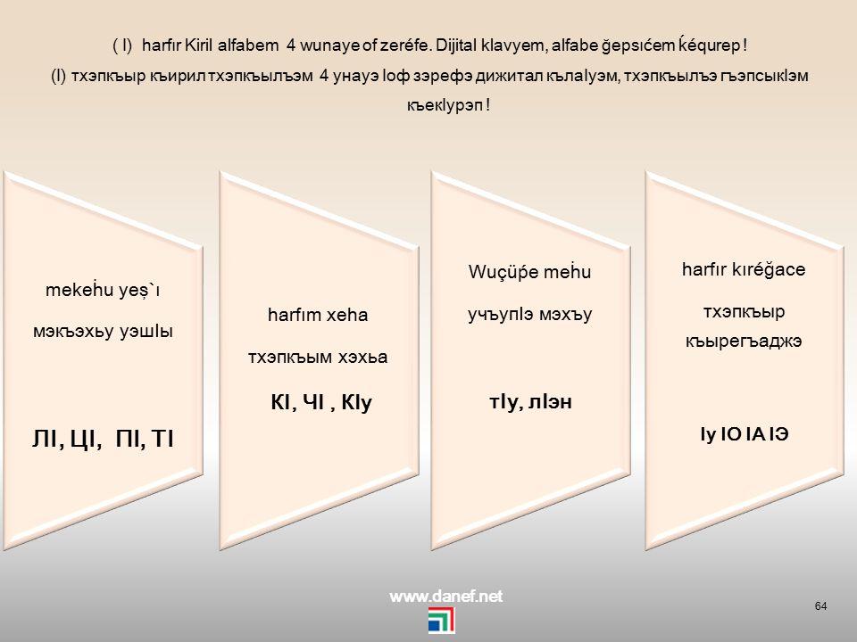 63 Kiril Adıǵe alfabem zı harfew yaĺıtağe harf zexeğewuçüáğexer къирил адыгэ тхэпкъылъэм зы тхэпкъэу ялъытагъэ тхэпкъ зэхэгъэучъуагъэхэр pıçığow, şırı