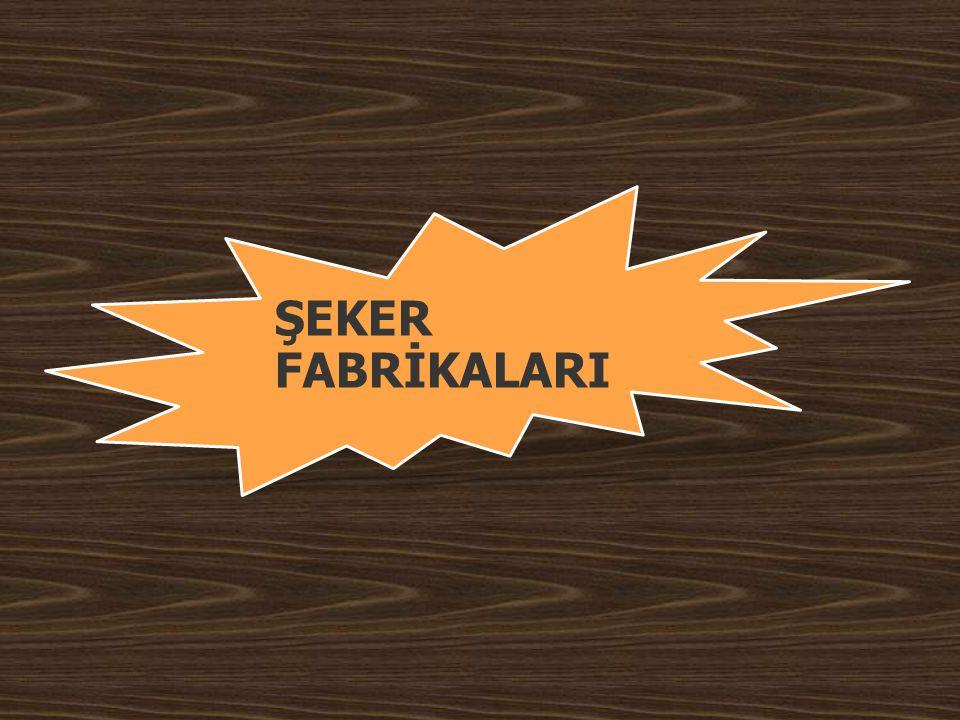 ŞEKER FABRİKALARI