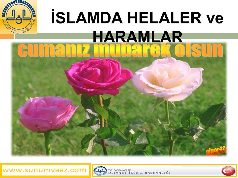 İSLAMDA HELALER ve HARAMLAR