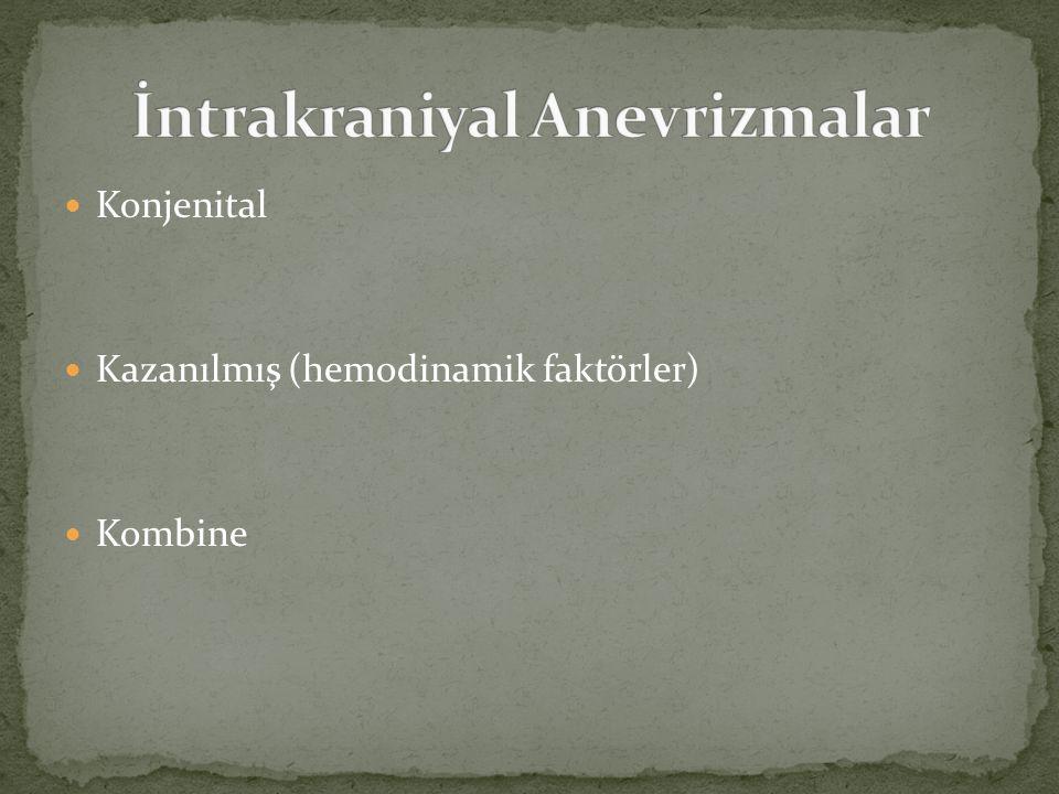 Konjenital Kazanılmış (hemodinamik faktörler) Kombine