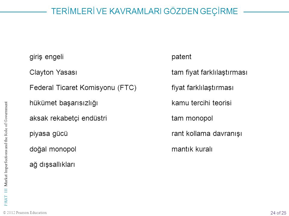 24 of 25 PART III Market Imperfections and the Role of Government © 2012 Pearson Education patent tam fiyat farklılaştırması fiyat farklılaştırması ka
