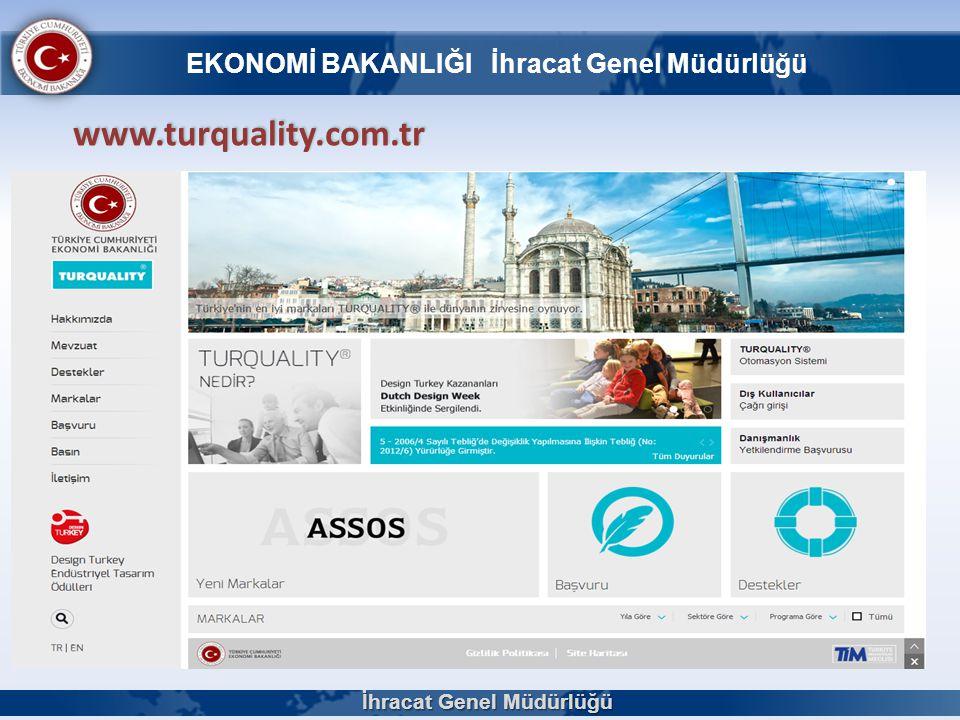 www.turquality.com.tr İhracat Genel Müdürlüğü EKONOMİ BAKANLIĞI İhracat Genel Müdürlüğü